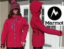 MARMOT dropway waterproof hooded ski jacket & chunky knit pom beanie hat women S