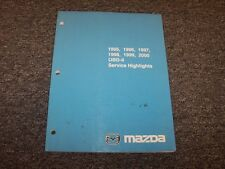 1996 Mazda Miata & RX7 OBD-II Diagnostic System Service Highlights Repair Manual