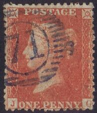 1856 1d Red C8 Pl 38 JG VIOLET 71 London District numeral Cat £2250.00