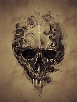 ART PRINT POSTER PAINTING DRAWING TATTOO CREEPY SKULL GOTHIC GRUNGE LFMP0672