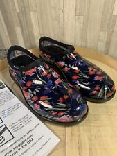 Sloggers Sz 9 Women's Navy Fresh Cut Garden Shoes