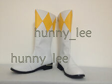 Yellow Ranger Cosplay Shoes Boots Custom-Made