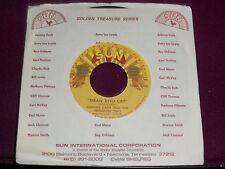 "JOHNNY CASH ""Mean Eyed Cat"" Sun Golden Treasure 45"