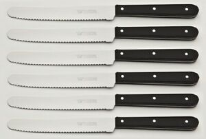 Brötchenmesser - Tischmesser - Griffschalen Schwarz - Marsvogel Solingen