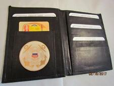 BLACK LEATHER BIFOLD PASSPORT WALLET CARD HOLDER USCG US COAST GUARD AUXILIARY