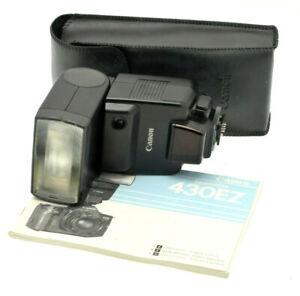 Canon 430EZ Speedlite Hotshoe flashgun in Case for Canon EOS film cameras