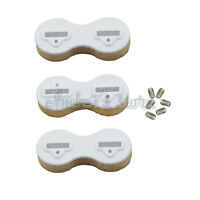 Plastic Fusion Fin Box Surfboard Fins Surfing Plugs Set White/Black for FCS