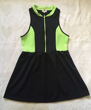 Stretchy Tennis Dress by ��One Clothing, Neon Green & Black, Size Xl