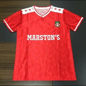 Wrexham FC 1988 home shirt, modern reproduction, sizes s/m/l/xl/2xl/3xl/4xl