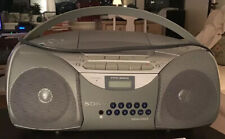 Sony CFD5200 Portable CD Tape Player Radio Boombox + Remote Great Sound