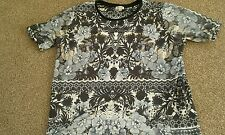 river island oversized top size 10-12