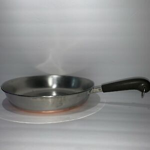 Vintage Revere Ware 12 Inch Copper Bottom Skillet Frying Pan No Lid