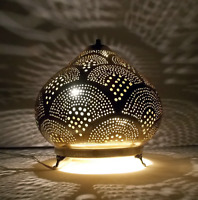 Handcrafted Moroccan small Brass Table Lamp