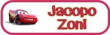 Kit 20 Etichette termoadesive personalizzate per Scuola Asilo Saetta Mc Queen