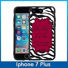 Zebra You Only Live Once For Iphone 7 Plus & Iphone 8 Plus (5.5) Case Cover