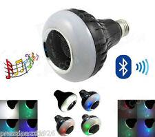 LAMPADA SPEAKER a LED BIANCA RGB E27 CON CASSA BLUETOOTH TELECOMANDO LAMPADINA