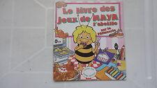 RARE LIVRE DE JEUX MAYA L'ABEILLE 1981 SUR LA PATISSERIE TF1 TBE !!!