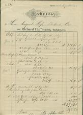 Alte Rechnung Richard Hoffmann Dachdeckerei Speyer 1904