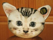 Adorable American Shorthair Cat Face Pillow Nwt