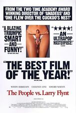 THE PEOPLE VS LARRY FLYNT (1996) ORIGINAL REVIEW MOVIE POSTER - ROLLED - 2-SIDED