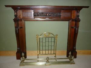 Large Victorian Mahogany Fire Surround