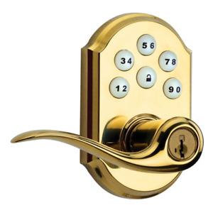 Kwikset Smartcode - Zigbee Automated Lever Lock (Polished Brass) (912TNL)