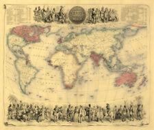1800-1899 Date Range Antique World Wall Maps