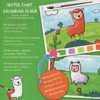 WATER PAINT-COLOURING BOOK-Wasserfarben-Malblock für Kinder+Pinsel & Farben #971