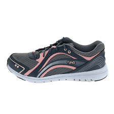 Ryka Womens Aries SMW Gray Leather Running Shoes Lace Up Low Top Size 9.5 W