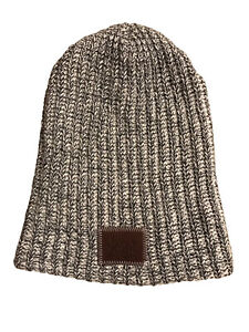 Love Your Melon Beanie Knit Hat Unisex  White/Black Made in the USA