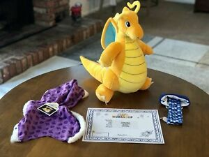 ⭐️Build-A-Bear Workshop EXCLUSIVE POKEMON DRAGONITE WITH SOUNDS, CLOTHES⭐️