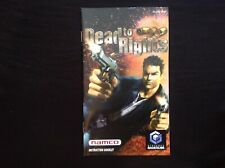 DEAD TO RIGHTS Nintendo Gamecube GCN **INSTRUCTION BOOKLET ONLY**