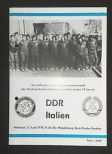 Programm 17.4.74 DDR Italien Italia DDR EM U23 programma 1.FC Magdeburg FCM DFV