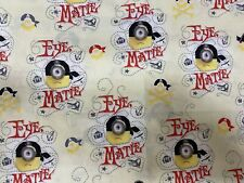 Minions Eye Matie 100% Cotton Fabric  1/4 Yard 9x44