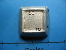 9.04 OZ NSE TRAPEZOID PYRAMID BLOCK STYLE HAND POUR 999 SILVER BAR SUPER RARE