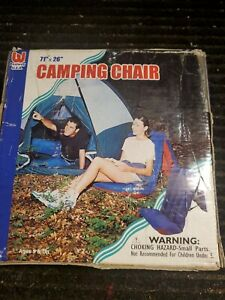 """Vintage 71"""" X 26"""" Inflatable Camping Chair"""