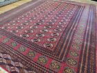 9x12 Antique Pakistani Bokara Bokhara wool hand-knotted Oriental Area Rug Red