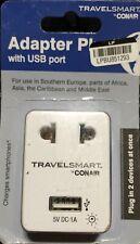 Conair Travel Smart Adapter Plug with USB Port 5V
