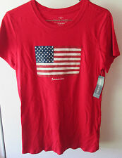 Nwt Faded Glory Top Small American T-Shirt United States Flag Red White & Blue
