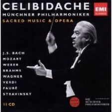 SERGIU/MP CELIBIDACHE - CELIBIDACHE 4: GEISTLICHE MUSIK 11 CD NEW MOZART BRAHMS