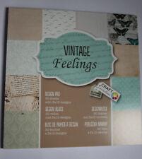 """Craft Paper Pad, Motivpapier, """"Vintage feelings"""""""