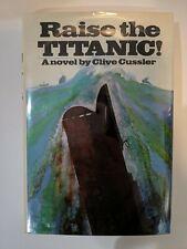 Raise the TITANIC! Signed by Clive Cussler w/ Doodle  HC/DJ 1st Edition 1976