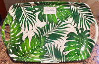 Tommy Bahama Tropical Palm Leaves Leaf Melamine Serving Platter Tray w/Handle