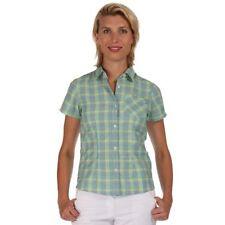 Camicia da donna in poliestere verde