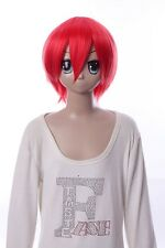 W-10-f2 rouge red 33cm cosplay perruque wig perruque cheveux hair anime manga