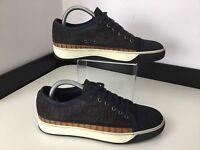 Lanvin Men's Sneakers, Shoes, Uk 5 Eu39, Navy Blue, Brown Crocodile Leather VGC