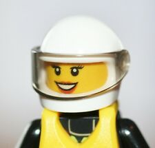 LEGO FEMALE FIREMAN NEW WITH HELMET,VISOR,LIFE VEST