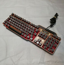 Fine Handcrafted Wood Effect Steampunk Keyboard