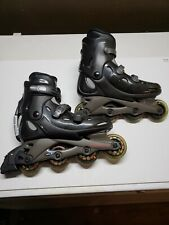 Mens Size 9 Rollerblades Bio Dynamic Black And Gray