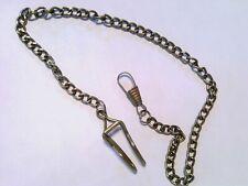chain 14 inch Us stock Pocket watch chain, Bronze tone steel